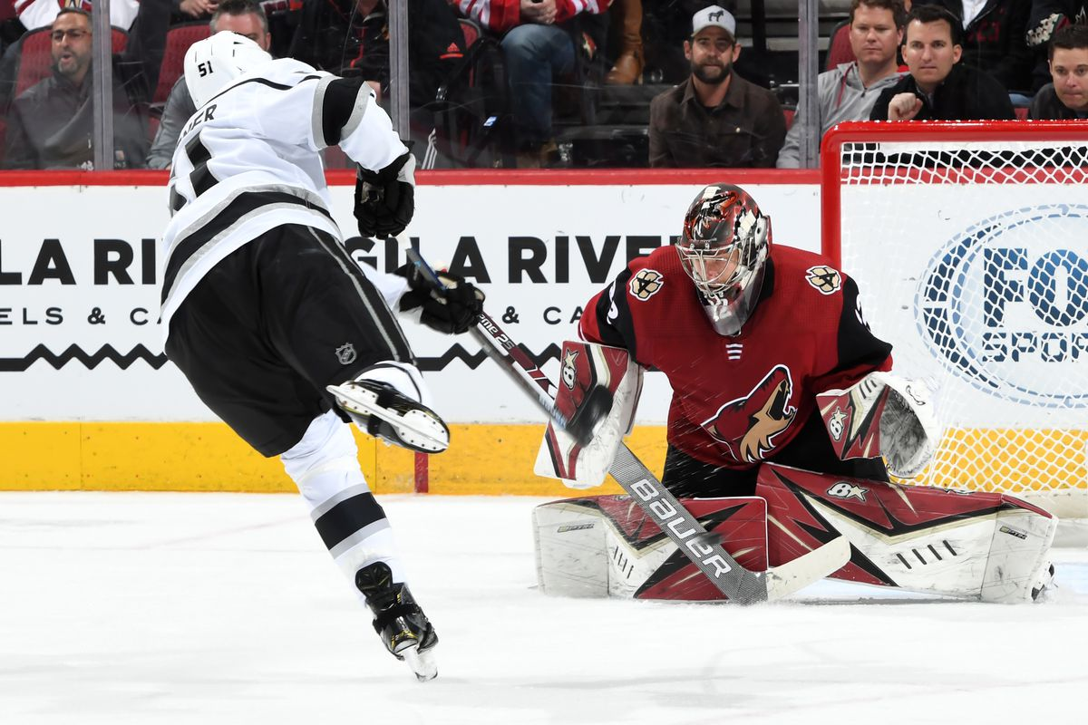Los Angeles Kings winning streak comes to a swift, abrupt end in shutout loss to Arizona Coyotes