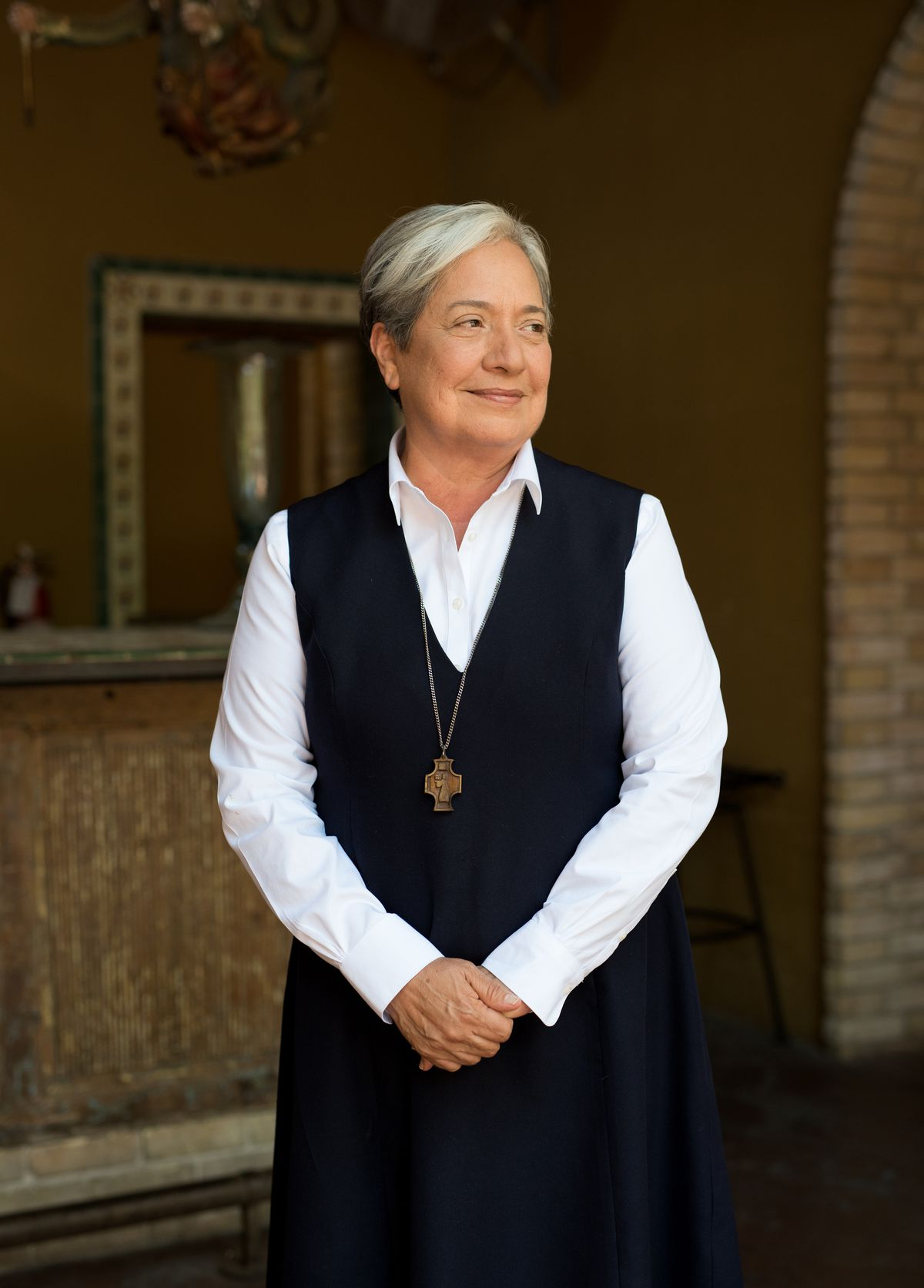 Sister Norma Pimentel, executive director of Catholic Charities of the Rio Grande Valley, poses for a portrait in McAllen, Texas, on July 19, 2018.