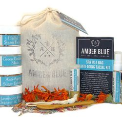 """If she's less into glamming up and would rather soothe at the source, we suggest """"Spa in a Bag"""" from <b>Amber Blue</b> at Follain in the South End. This 10-piece kit uses natural botanical ingredients, free of nasty chemicals, to target all skin ailments"""