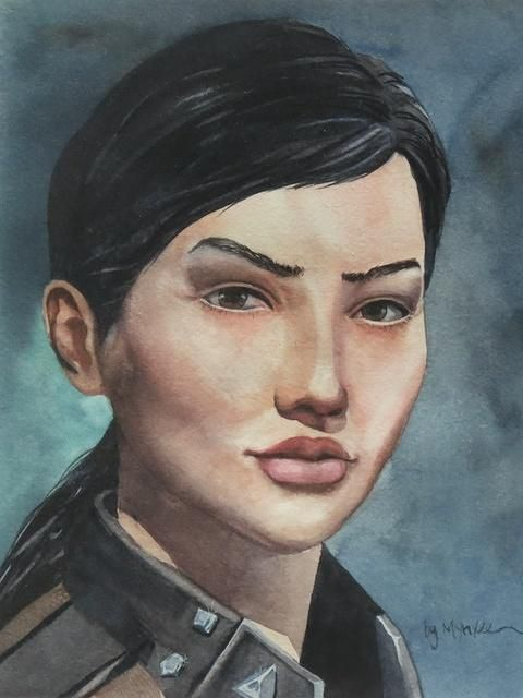 Hexbyte  News  Computers A portrait of Katia Sae, noted Eve Online explorer. Executed by Eve player Mynxee, a former member of the player-elected Council of Stellar Management.
