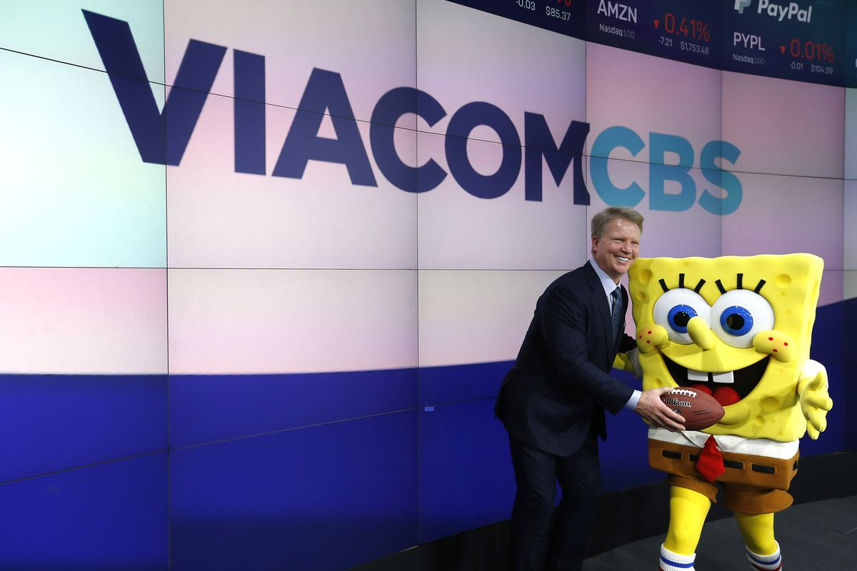 Former NFL player Phil Simms attends as ViacomCBS Inc. rings the opening bell at NASDAQ on December 05, 2019 in New York City.