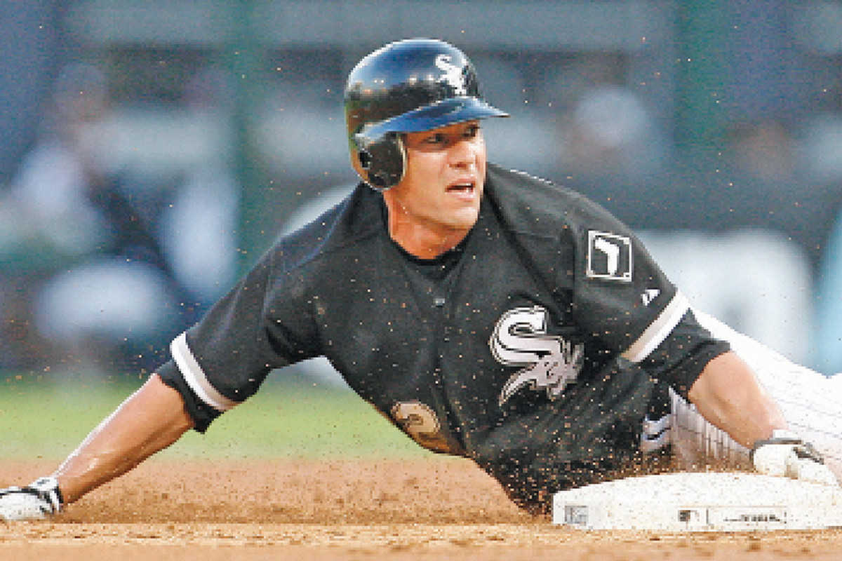 Scott Podsednik is the only Chicago player that has stolen four bases in a game three times.