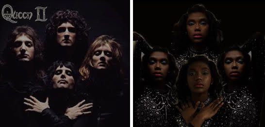 For her project, senior Elizabeth Lee recreated Queen cover art, starring herself.