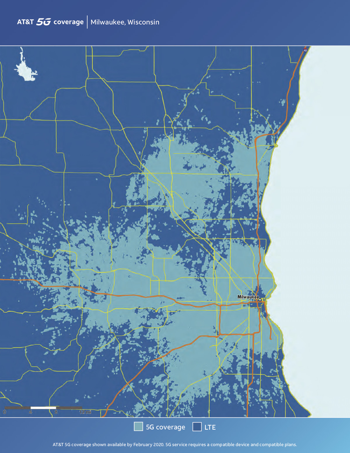Here are AT&T's first real consumer 5G coverage maps - The Verge At T Coverage Map Wisconsin on at&t service map, at&t connectivity map wisconsin, economics distribution map wisconsin, at&t map tracker, at&t dsl availability map, at&t data map, at&t u-verse, cell phone coverage wisconsin, sprint coverage wisconsin,