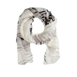 """<a href=http://www.barneyswarehouse.com/house-of-waris-psalm-stole-501473348.html?index=23&cgid=womens-scarves"""">House of Waris Psalm Stole scarf</a>  in snow, blush, and Persia, $59 (on sale from $300)"""