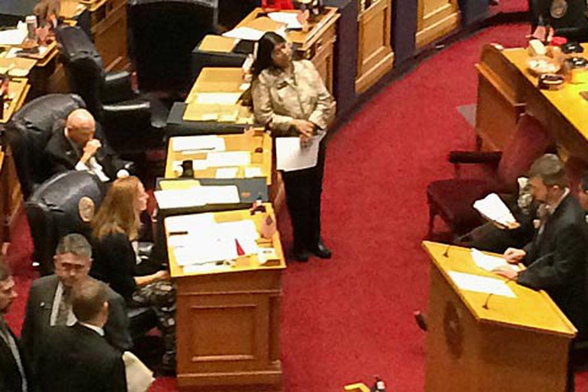 Senators debate parent's bill of rights on Feb. 11.