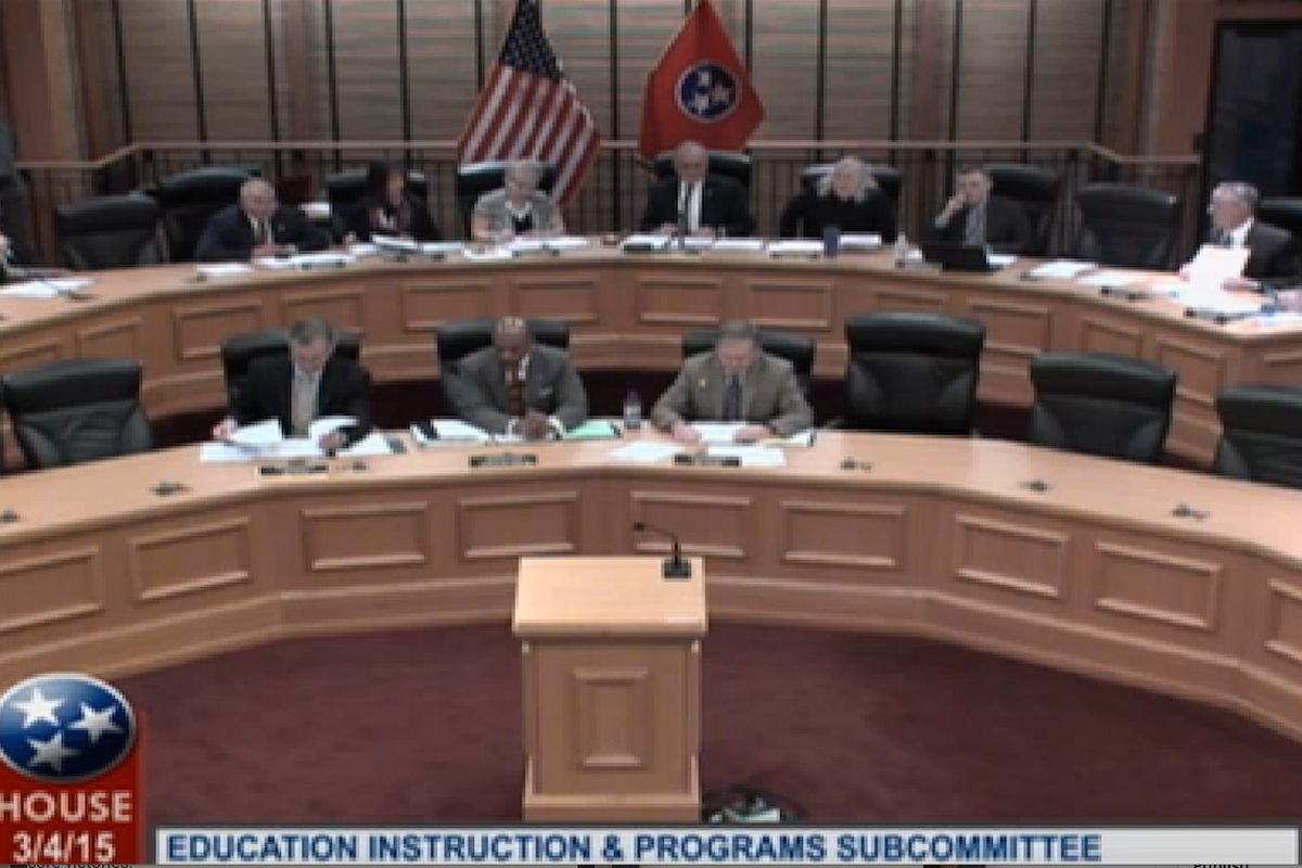 Tennessee lawmakers convene in committee on Wednesday to discuss education bills, including the Common Core State Standards.