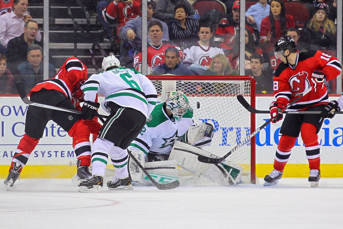 Kari Lehtonen will likely face more pucks from the New Jersey Devils. Will it be as many as he faced back on January 9?