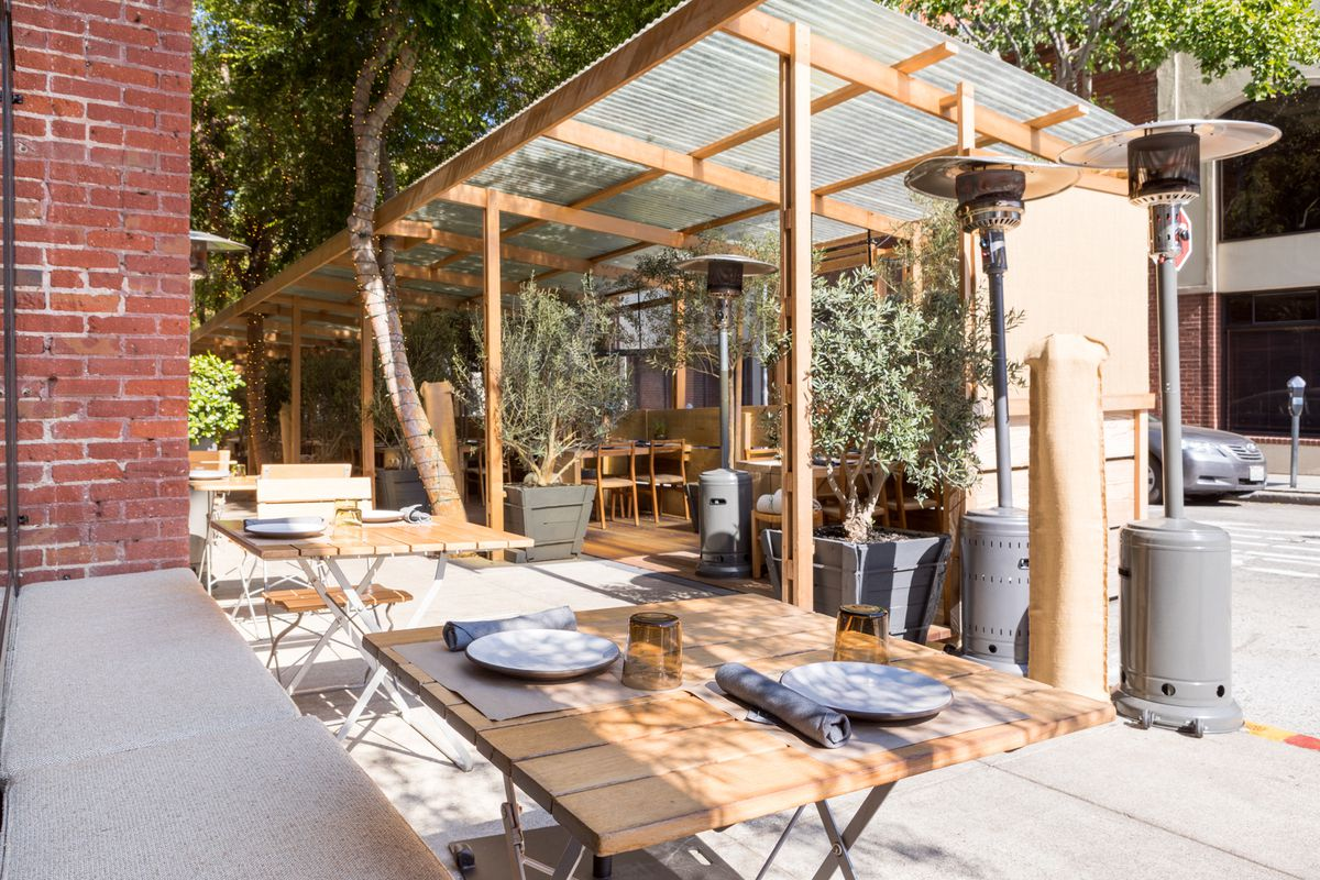 The parklet at Cotogna, one of the best in San Francisco