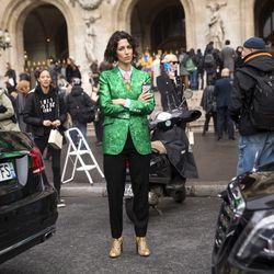 Yasmin Sewell in Gucci.