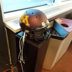 Phone Chargers built into a helmet