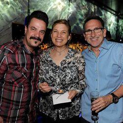 Mike Minor, Mary Sue Milliken and Rick Moonen at the Hakkasan kick off party. Photo: David Becker/Getty Images