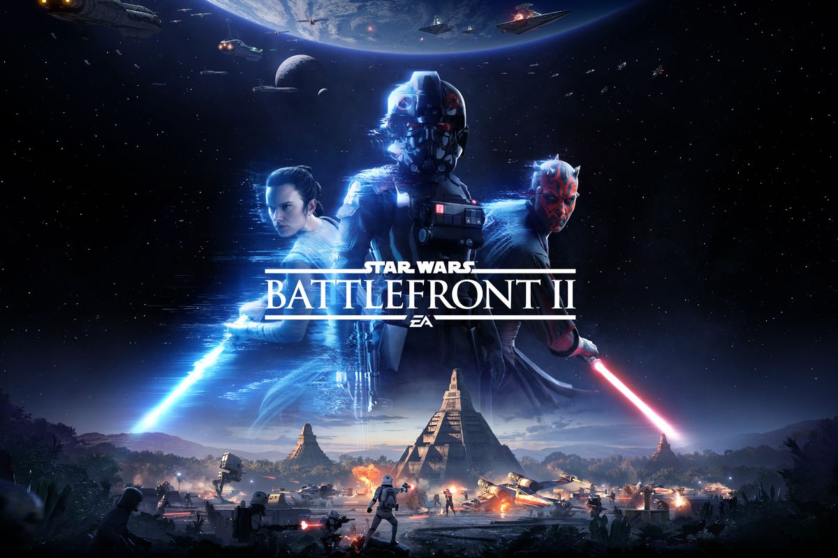 """A photo of the """"Battlefront II"""" cover."""