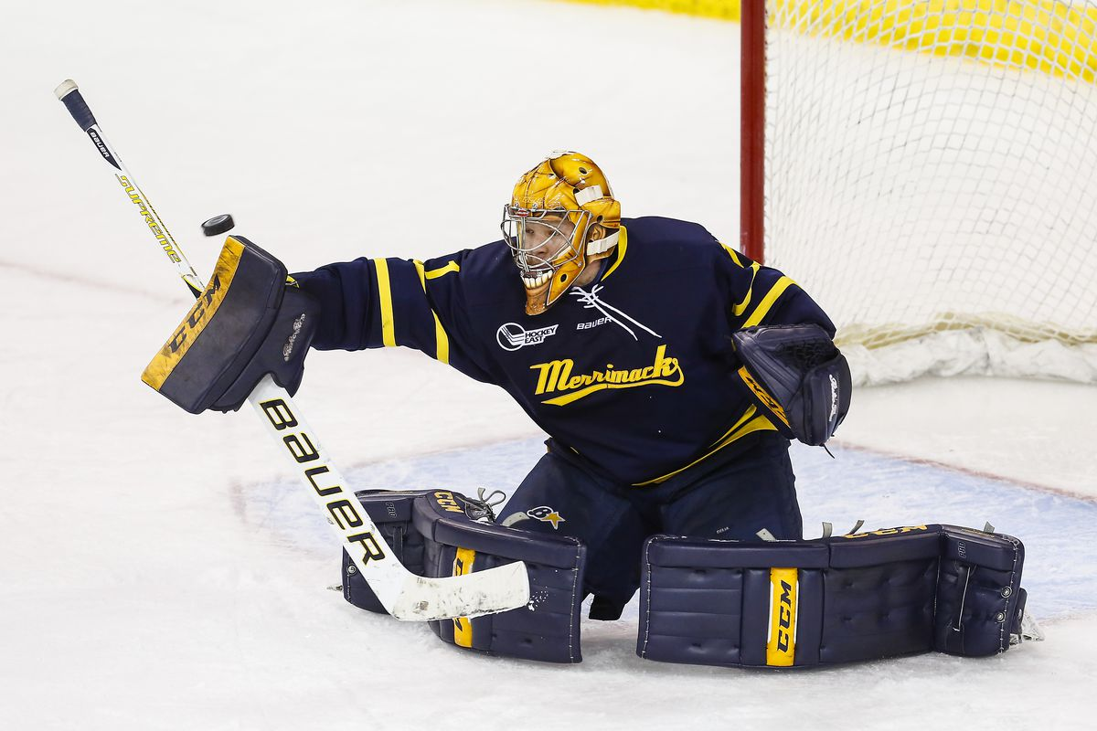 Collin Delia and Merrimack look to get back on track against Northeastern.