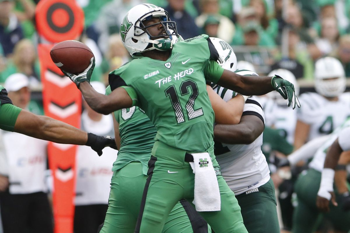 The key for an Akron victory will be stopping Marshall QB Rakeem Cato.