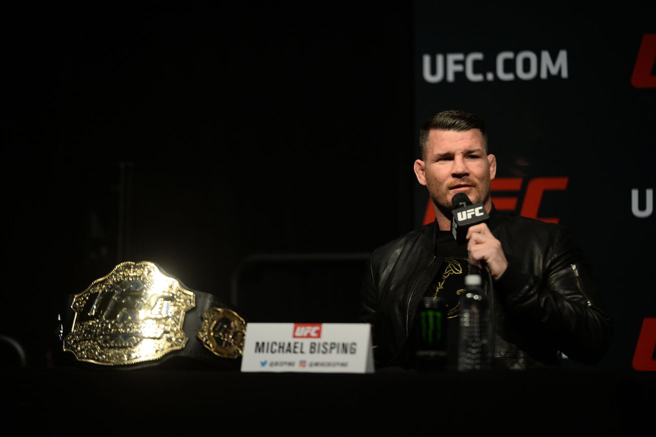 Michael Bisping has a message for the motherf— ers who call him the middleweight Germaine de Randamie