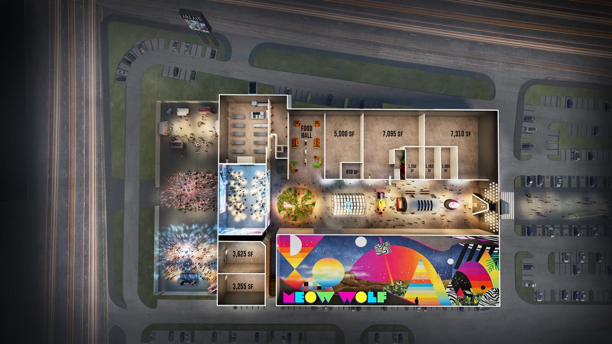 A site map of the Area 15 entertainment center and mall, set to open in Las Vegas later this year.