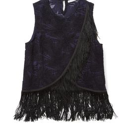 Minky top in black, originally $298