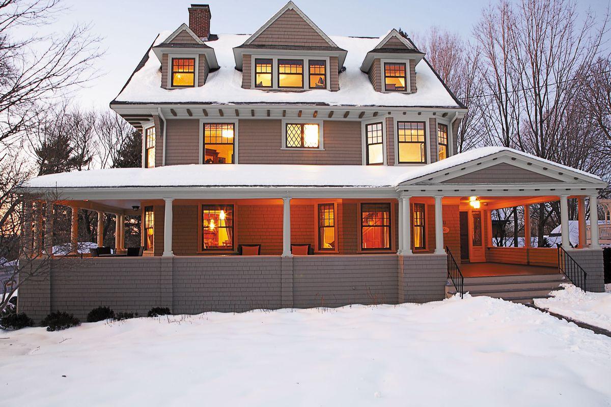 Newton Shingle-Style home exterior shot