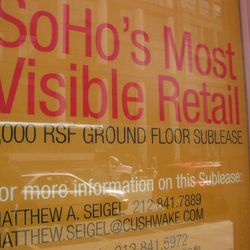 Look, it's Soho's most visible retail! We know because the sign told us.