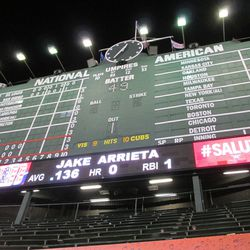 12:36 a.m.: Jake Arrieta pinch-hits in the 13th inning