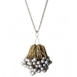 """Aesa 'Sadko' necklace, <a href=""""http://www.aesajewelry.com/shop/ZSadkoGrey.html"""">$395</a>"""
