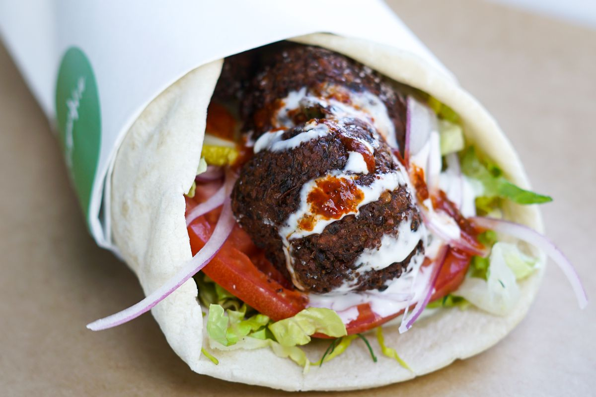 The falafel wrap at Mockingbird
