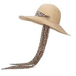 """<a href=""""http://www.intermixonline.com/product/accessories/hats/genie+by+eugenia+kim+cecily+sunhat+with+leopard+scarf.do?sortby=ourPicks""""> Eugenia Kim sunhat with leopard scarf<a/>, $98.00 intermixonline.com"""