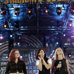 Country music stars and Utah natives SHeDAISY perform in the Stadium of Fire at LaVell Edwards Stadium in Provo.