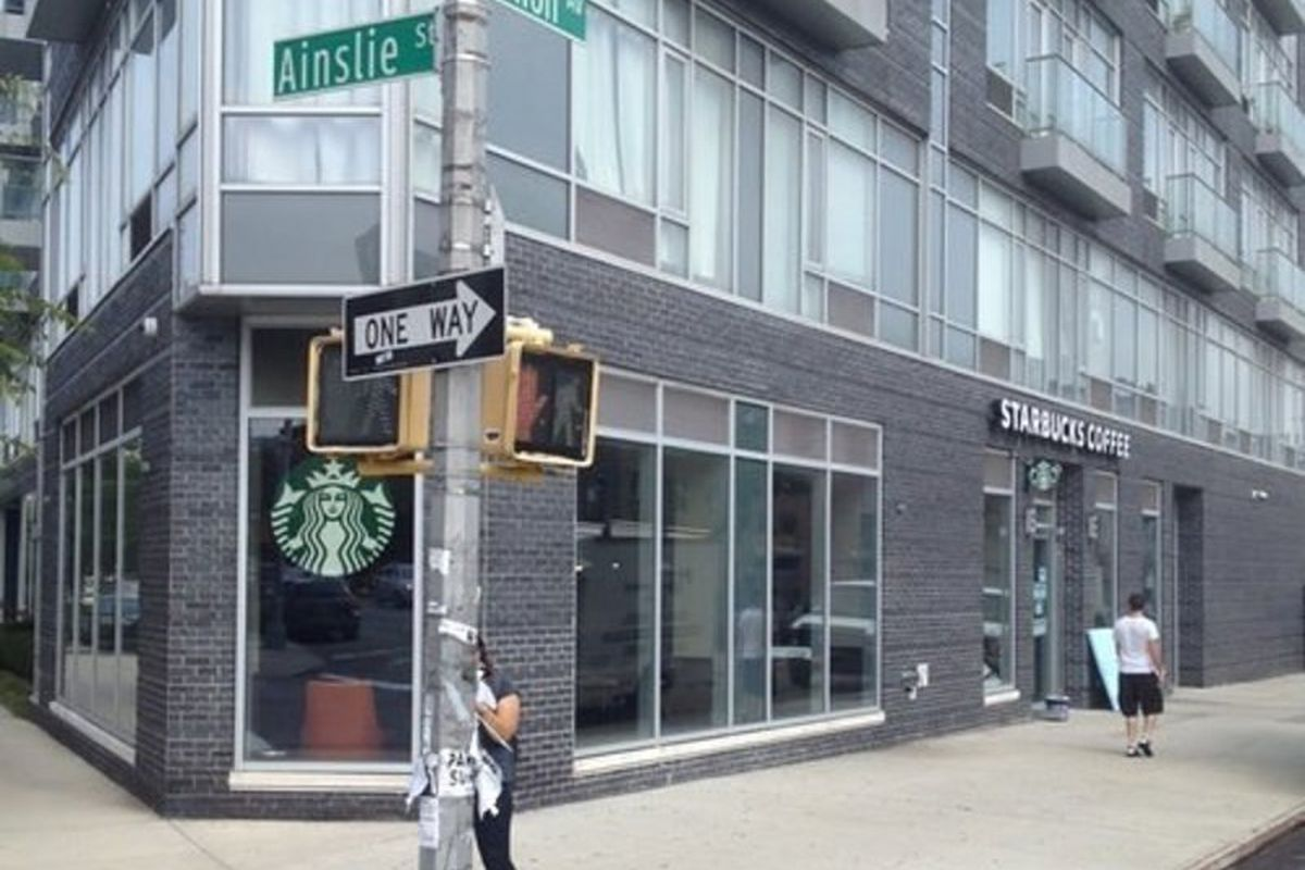 The first Starbucks in Williamsburg