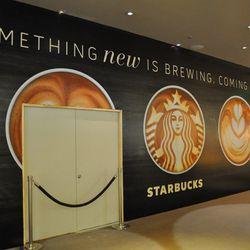 Starbucks under costruction inside Aria.
