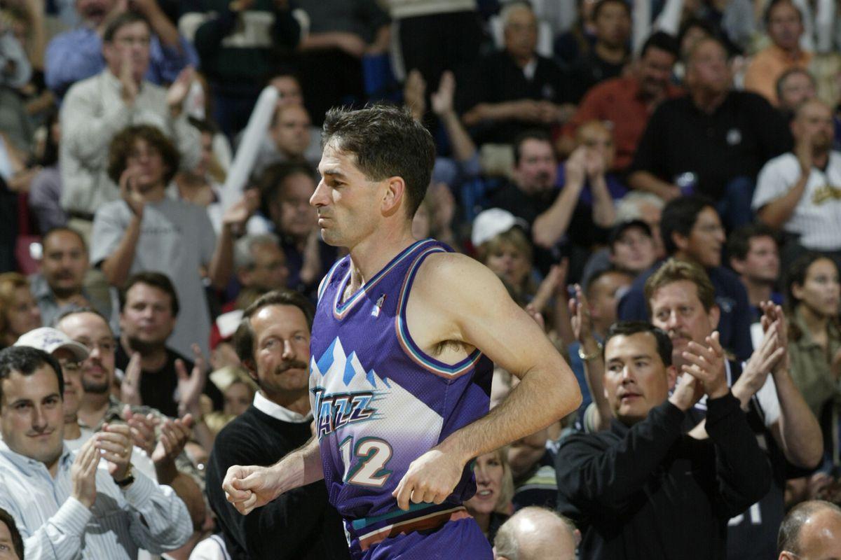 John Stockton exits the court