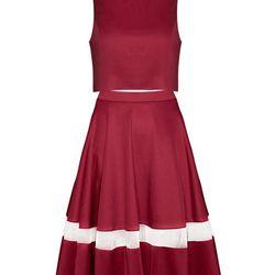 """Pixie Market two piece dress set, <a href=""""http://www.pixiemarket.com/burgundy-midi-two-piece-dress-set.html"""">$104</a>"""