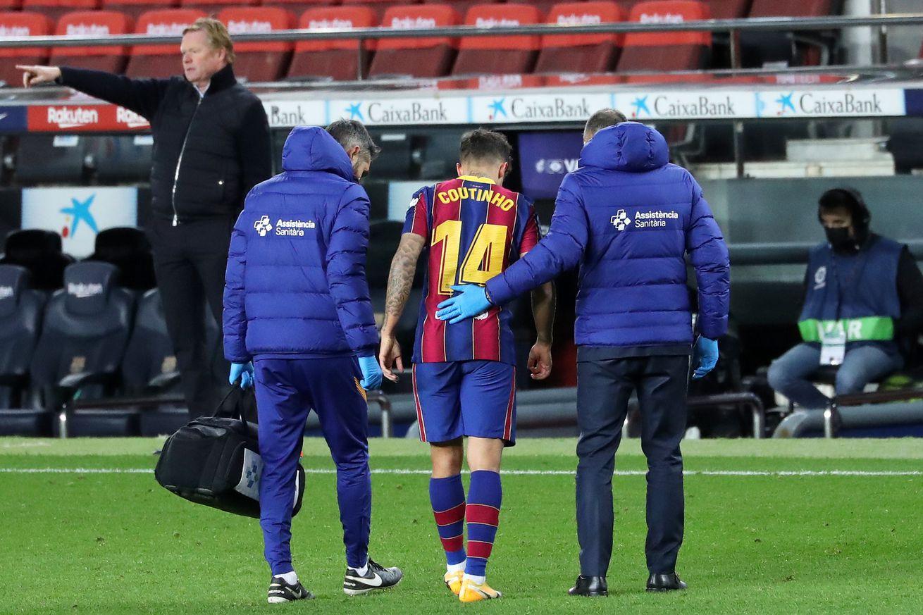 Coutinho hit by injury setback