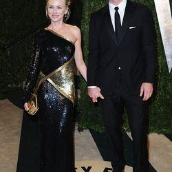 Naomi Watts, in a futuristic metallic Emilio Pucci that reminds us of Nicole Kidman's Oscar choice.