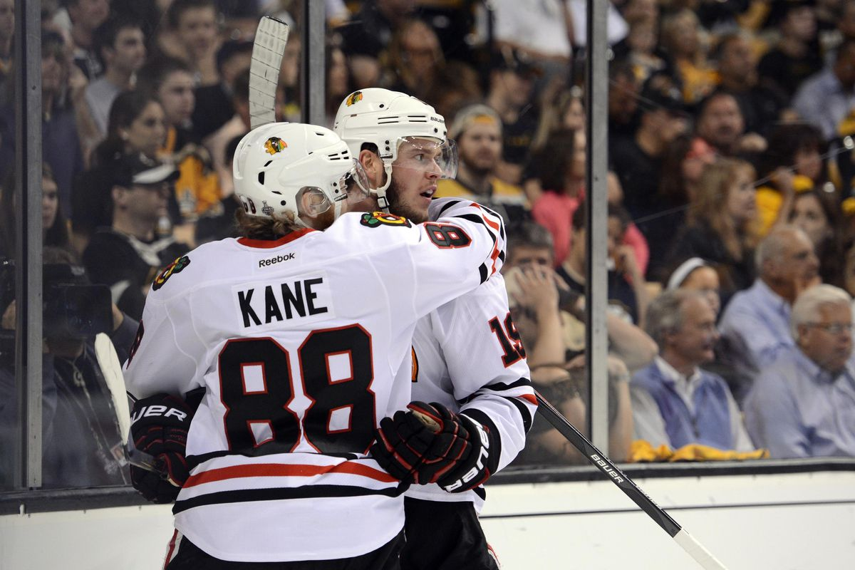 jonathan toews and patrick kane are going to be dominating the western conference for another eight years with the blackhawks it will cost chicago a mere