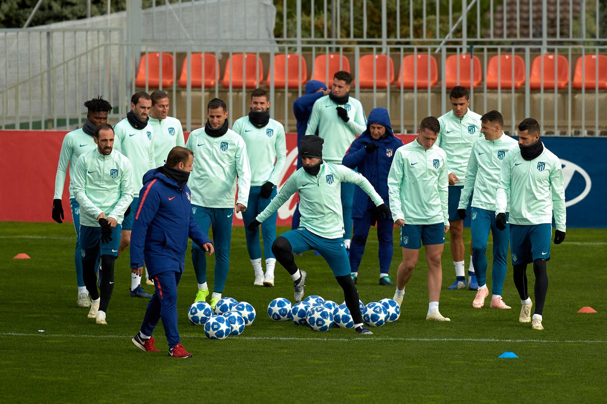 Club Atletico de Madrid Training Session and Press Conference