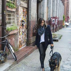 Amanda Bergen, Intermix retail development manager, shot near her apartment in Dumbo