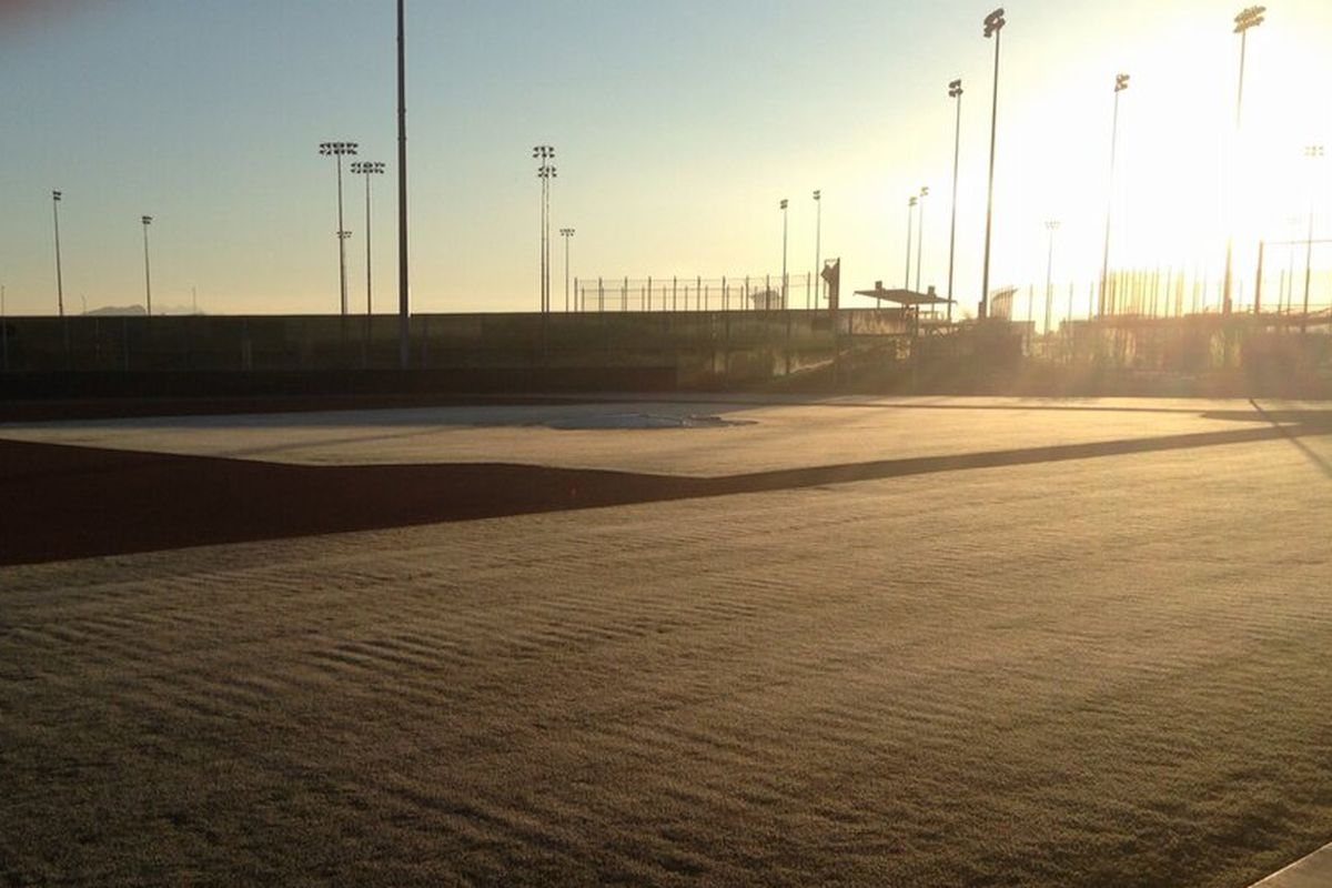"""""""You don't see frost on the field much in AZ, but I guess that's our welcome back!"""""""