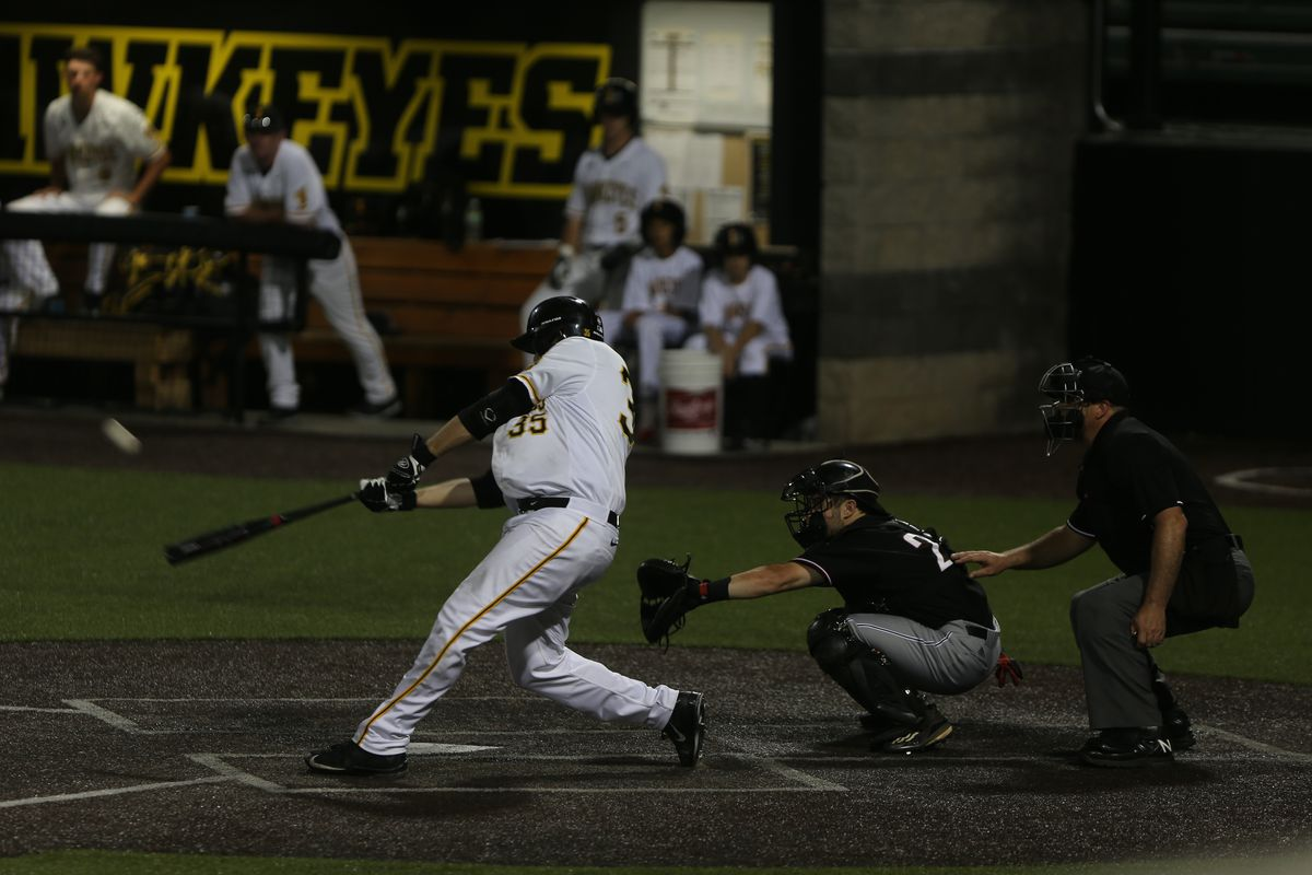 Houston selects Iowa slugger Jake Adams in the 6th round