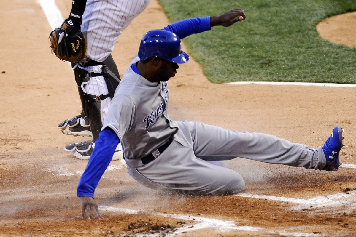 Lorenzo Cain and the running Royals come to town