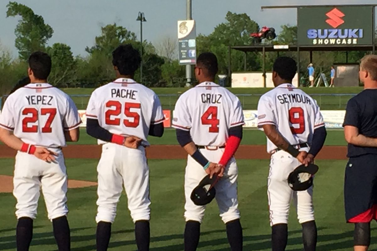 The Rome Braves order is full of speedsters.