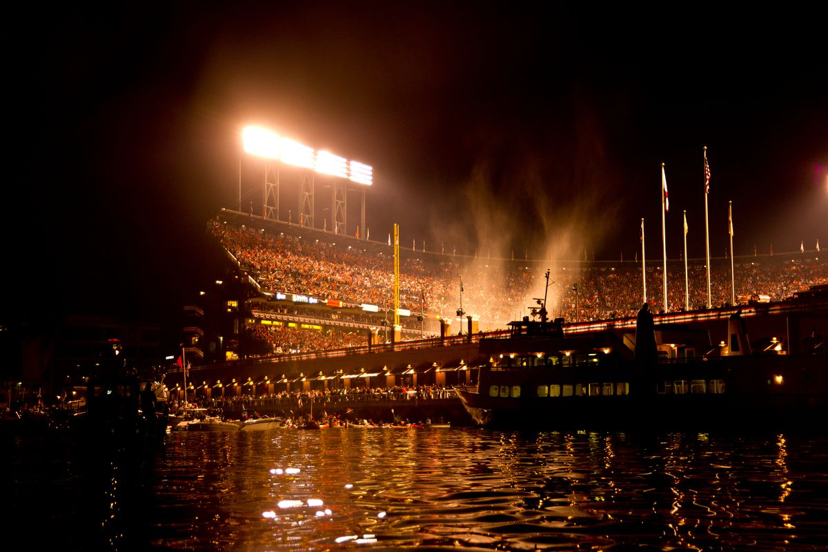 Baseball - Watercraft in McCovey Cove for World Series Game 1