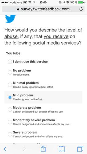 Twitter abuse survey