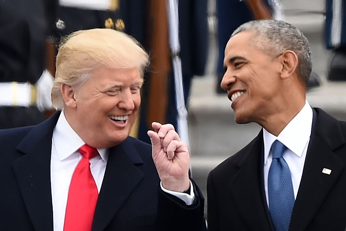 Image result for obama & trump