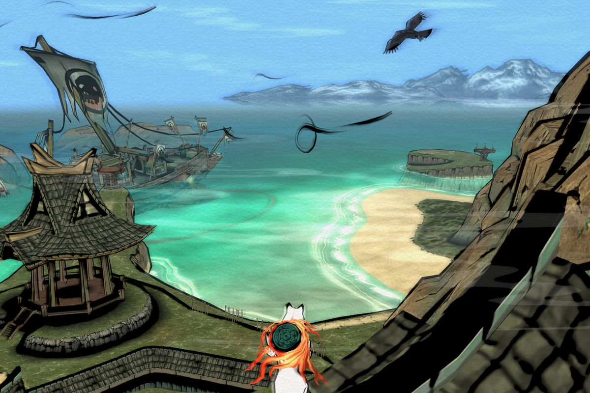 okami hd - amatersau stares at the water