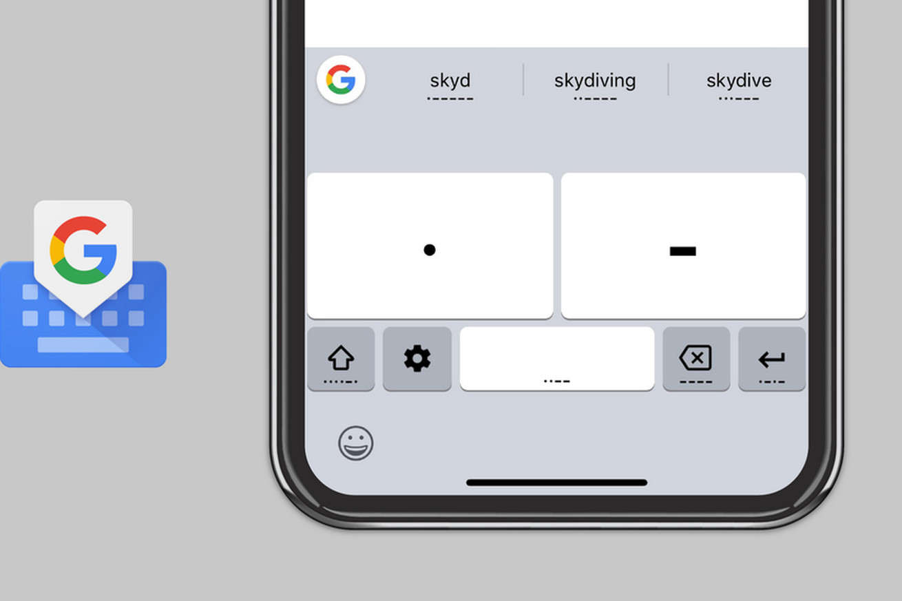 google s gboard keyboard now lets you communicate through morse code on both android and ios