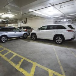 Parking spots sit vacant in the underground reserved parking area under the  Salt Lake County Government Complex in Salt Lake City on Monday, June 5, 2017.