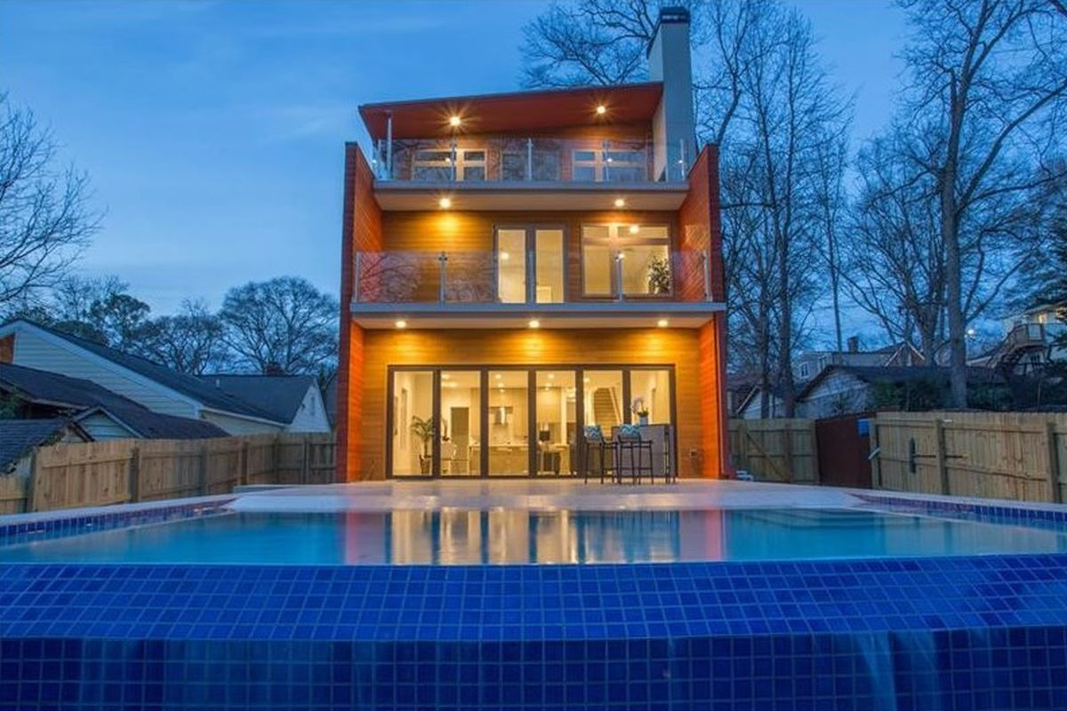 A new modern home in Atlanta's Virginia-Highland neighborhood.