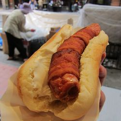 """The Temptee Dog at Crif Dogs by <a href=""""https://www.flickr.com/photos/scottlynchnyc/14700763753/in/pool-eater"""">Scoboco"""